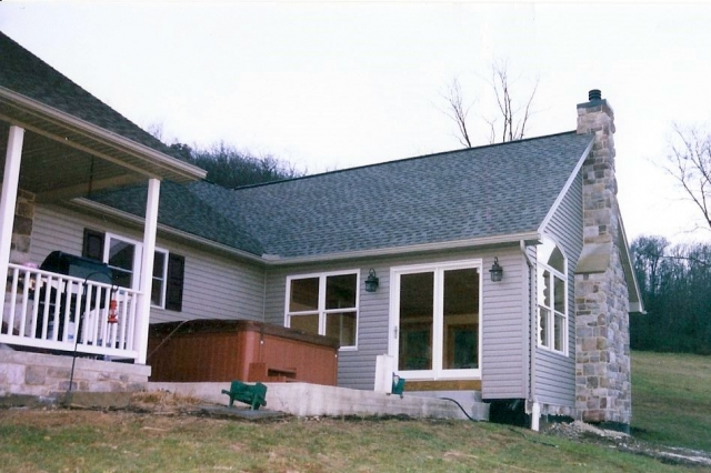 addition to an existing home outside view