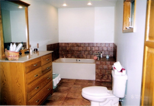 Freshly remodeled bathroom