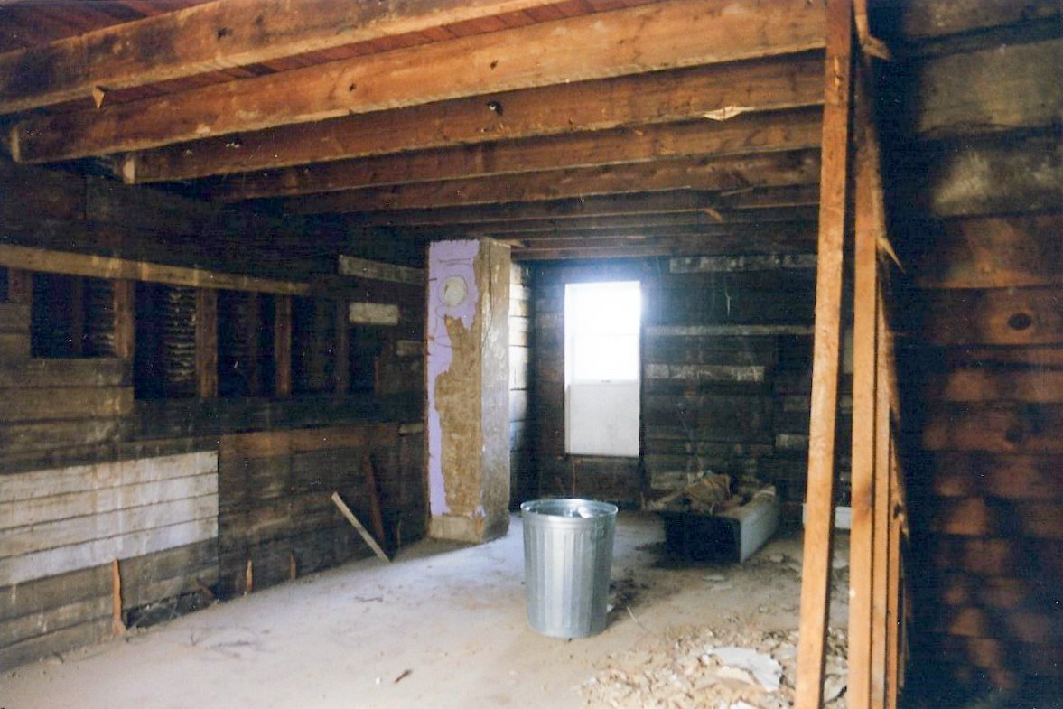Interior of building being gutted for remodel