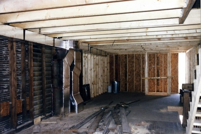 Starting framing inside building