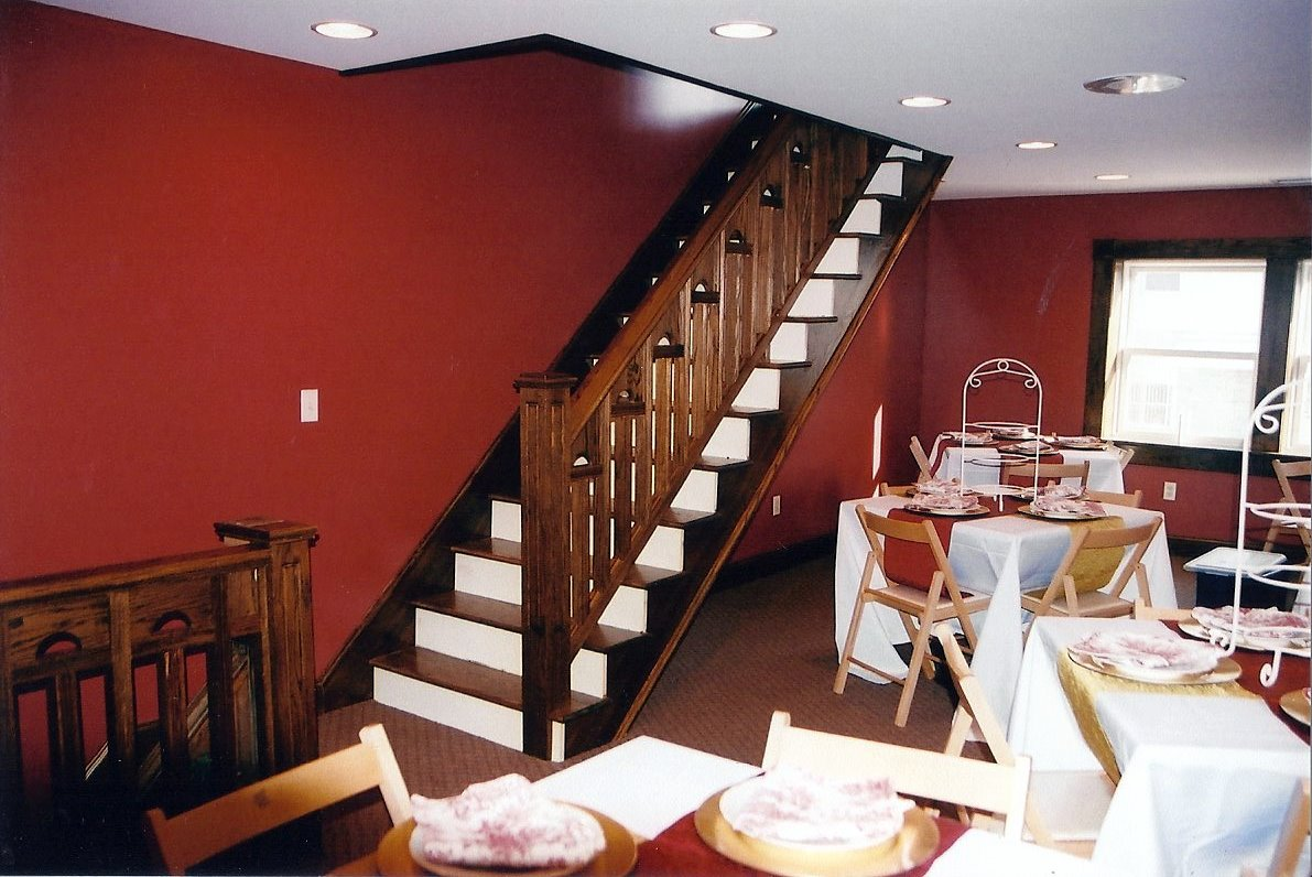 Staircases in tea room
