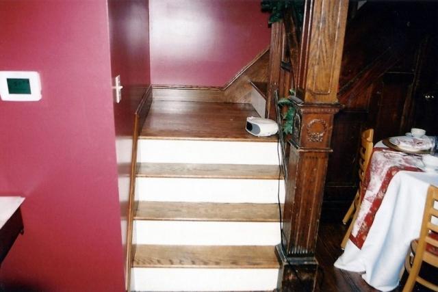 Stairs in tea room